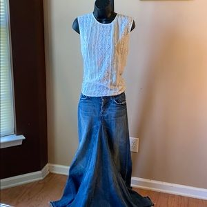 Pre-Owned 7 for all mankind JEAN DISTRESSED SKIRT